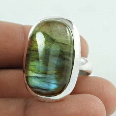 Paradise Bloom! 925 Sterling Silver Labradorite Gemstone Promise Ring