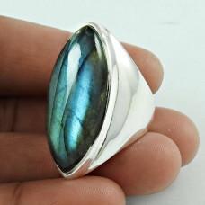 Big Fabulous! 925 Silver Labradorite Gemstone Ring Wholesale