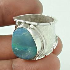 Latest Trend Opal Gemstone 925 Sterling Silver Ring Jewellery
