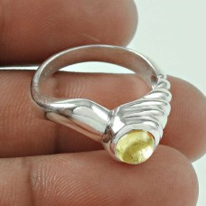 925 Sterling Silver Gemstone Jewellery Charming Citrine Gemstone Ring Fabricante