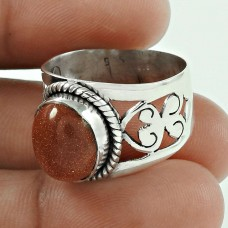 925 Sterling Silver Indian Jewellery Beautiful Red Sun Sitara Gemstone Ring Wholesale Price