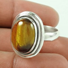 Sterling Silver Jewellery Fashion Tiger Eye Gemstone Ring Wholesaling