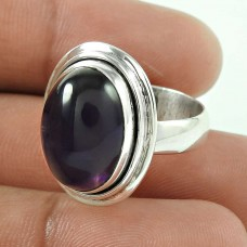 925 Silver Jewellery Beautiful Amethyst Gemstone Ring Wholesaler India