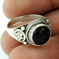 Party Wear 925 Sterling Silver Smoky Quartz Gemstone Ring Ethnic Jewelry
