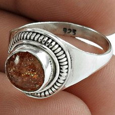 925 Sterling Silver Jewellery Fashion Sun Stone Gemstone Ring Wholesaler