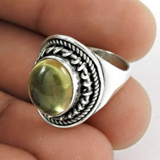 925 Sterling Silver Antique Jewellery Traditional Lemon Topaz Gemstone Ring Fabricant