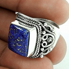 Jumbo! 925 Silver Lapis Ring Supplier