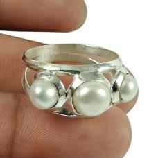 Precious! 925 Silver Pearl Ring