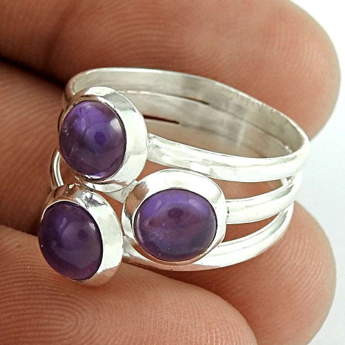 Big Amazing! 925 Silver Amethyst Ring