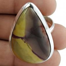 925 Sterling Silver Jewellery High Polish Mookaite Gemstone Ring Proveedor
