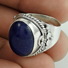 Indian Sterling Silver Jewellery Fashion Lapis Gemstone Ring Fournisseur