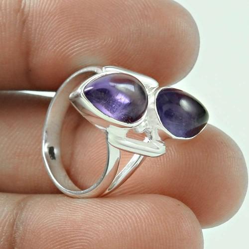 Daily Wear Amethyst Gemstone 925 Sterling Silver Ring Jewellery