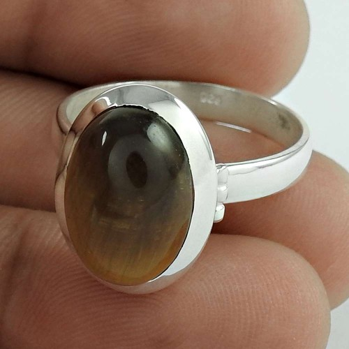 Natural! 925 Silver Tiger Eye Ring Wholesale