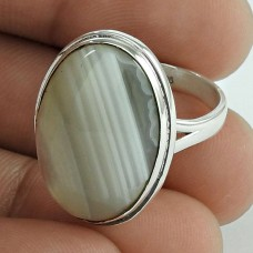 Kiss! 925 Silver Botswana Agate Ring Wholesale