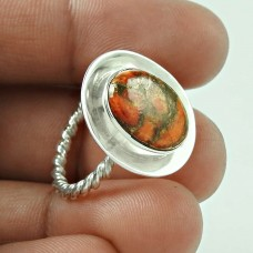 925 Sterling Silver Indian Jewellery Beautiful Brown Copper Turquoise Gemstone Ring Mayorista