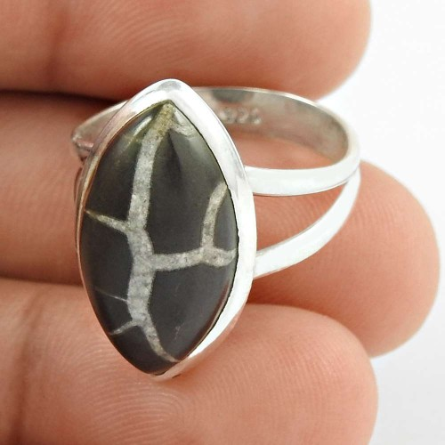 Sterling Silver Jewellery Ethnic Moroccan Septarian Gemstone Ring Exporter India