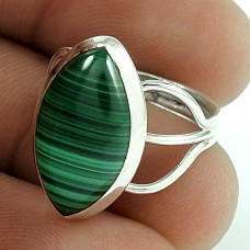 925 Sterling Silver Vintage Jewellery Beautiful Malachite Gemstone Ring Supplier