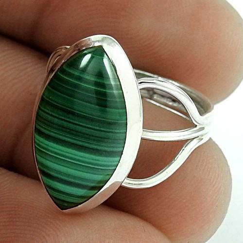 925 Sterling Silver Vintage Jewellery Beautiful Malachite Gemstone Ring Supplier