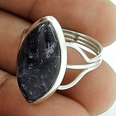 925 Silver Jewellery Beautiful Charoite Gemstone Ring Wholesale