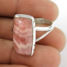 Sterling Silver Jewellery Fashion Rhodochrosite Gemstone Ring Grossiste