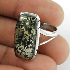 925 Silver Jewellery Beautiful Pyrite Gemstone Ring Fournisseur