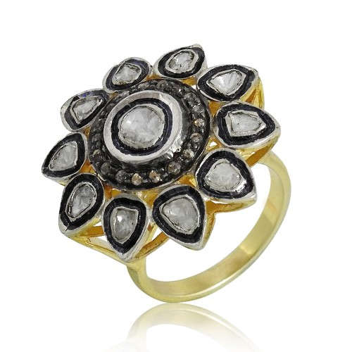 Sterling Silver Gemstone Jewellery Fashion Diamond, Inlay Ring