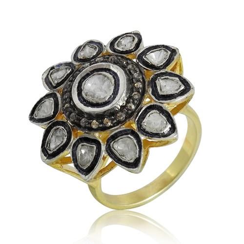 Sterling Silver Gemstone Jewellery Fashion Diamond, Inlay Ring