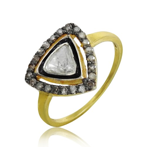 925 Sterling Silver Jewellery Traditional Diamond, Inlay Ring