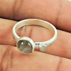 Sterling Silver Jewellery Charming Labradorite, CZ Gemstone Ring Großhandel