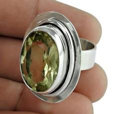Stylish Design!! 925 Sterling Silver Lemon Quartz Ring Wholesaling