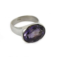 Sterling Silver Fashion Jewellery Trendy Amethyst Gemstone Ring Fabricant