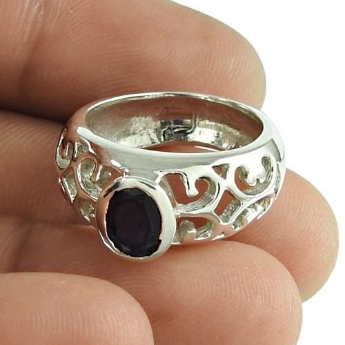 Pretty Iolite Gemstone Ring 925 Sterling Silver Gemstone Jewellery Fournisseur