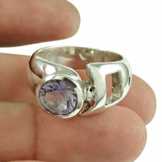 Amethyst Gemstone Ring 925 Sterling Silver Indian Jewellery Manufacturer India