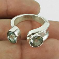 Pretty Blue Topaz Gemstone Ring 925 Sterling Silver Gemstone Jewellery Manufacturer