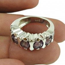 Lustrous Amethyst Gemstone Ring 925 Sterling Silver Fashion Jewellery Manufacturer