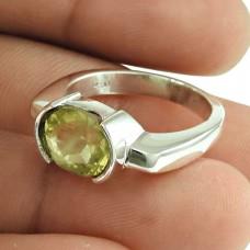 Pleasing Lemon Quartz Gemstone Ring 925 Sterling Silver Jewellery