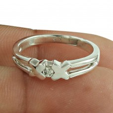 Well-Favoured CZ Ring 925 Sterling Silver Jewellery