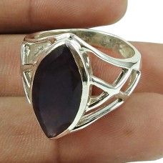 Lustrous Amethyst Gemstone Ring 925 Sterling Silver Fashion Jewellery Supplier