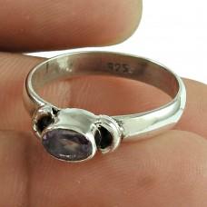 Classic Amethyst Gemstone Ring 925 Sterling Silver Jewellery Al por mayor