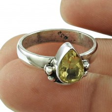 Rare Citrine Gemstone Ring 925 Sterling Silver Fashion Jewellery Fabricante