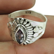 Party Wear Amethyst Gemstone Ring Sterling Silver Fashion Jewellery Manufacturer
