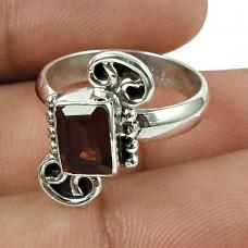 Pretty Garnet Gemstone Ring 925 Sterling Silver Gemstone Jewellery