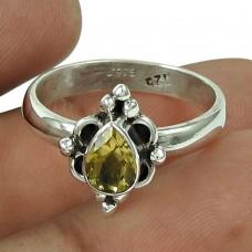Stunning Citrine Gemstone Ring 925 Silver Jewellery