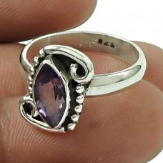 Excellent Amethyst Gemstone Ring 925 Sterling Silver Vintage Jewellery