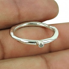 Possessing Good Fortune White CZ Gemstone Ring 925 Sterling Silver Indian Jewellery