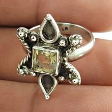 Charming Citrine Gemstone Designer Ring 925 Sterling Silver Vintage Jewellery