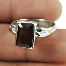 Graceful Garnet Gemstone Ring Sterling Silver Jewellery