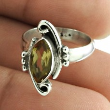 Charming Citrine Gemstone Ring 925 Sterling Silver Vintage Jewellery Wholesaling