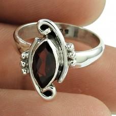 Designer Garnet Gemstone Ring 925 Sterling Silver Indian Jewellery