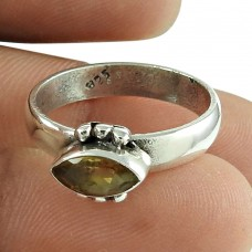Lovely Citrine Gemstone Ring Indian Sterling Silver Jewellery Wholesaler India